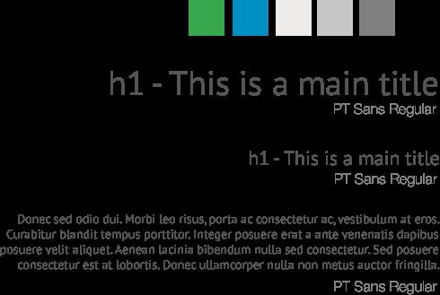 AggData - Typography, Palette
