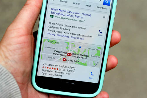Google Local Search Results on Mobile