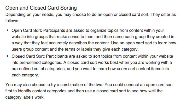 card sort image from usability
