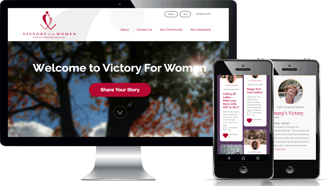 Victory for Women - Desktop and Mobile