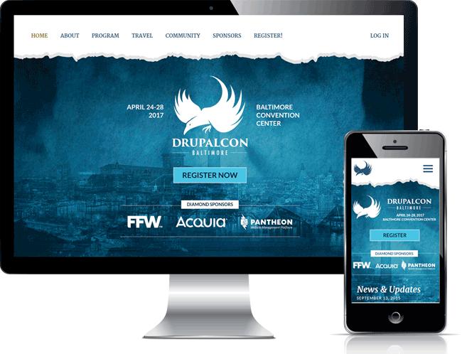 Baltimore Mobile and Desktop Screens