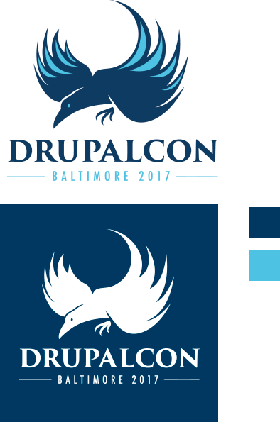Baltimore DrupalCon Logo and Palette