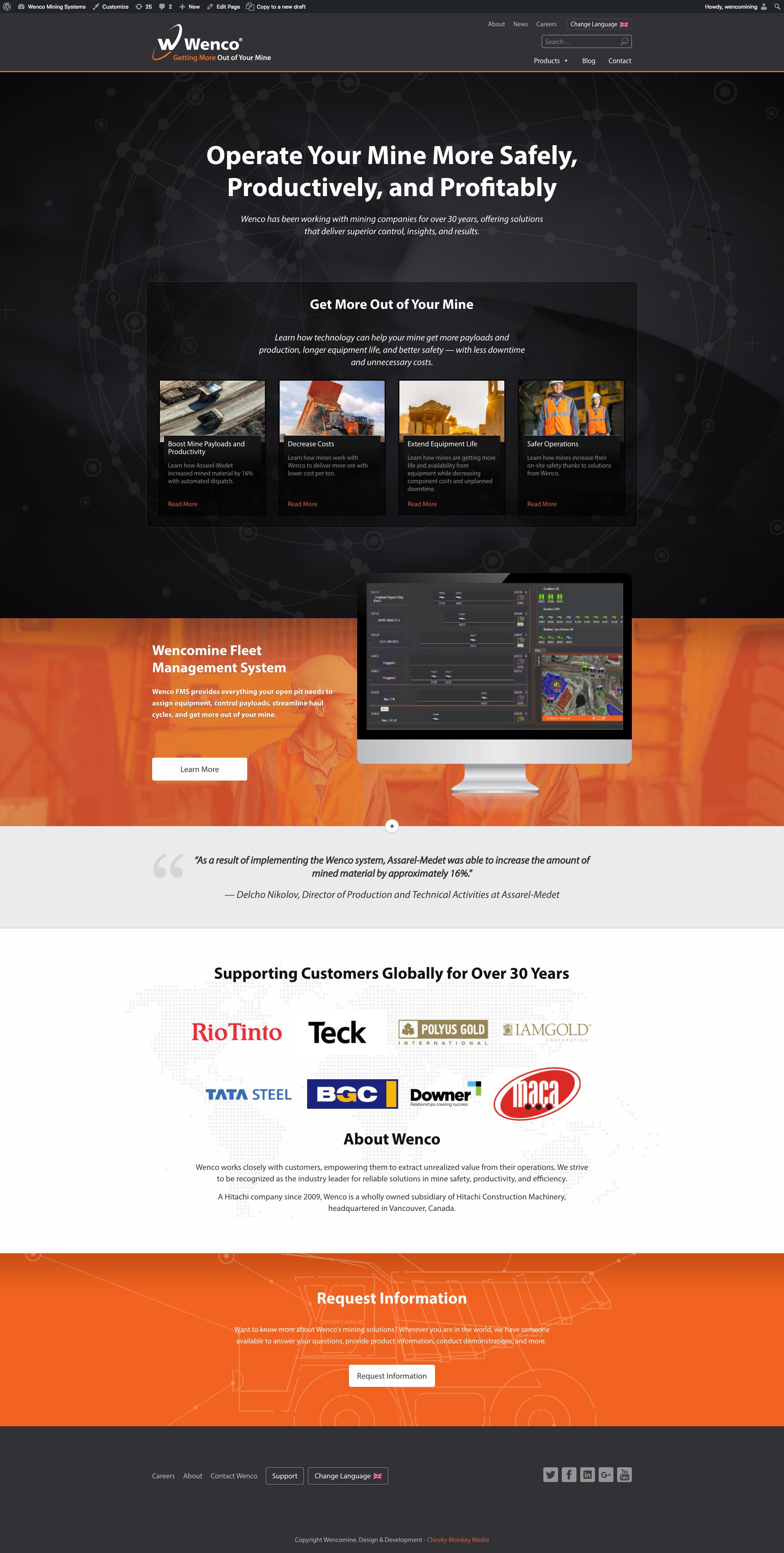 New Wenco Homepage
