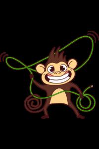 Monkey is bananas
